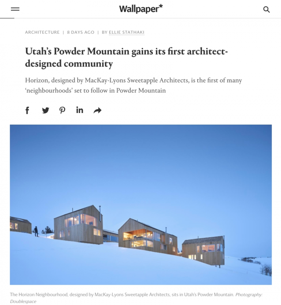 Wallpaper* - Utah's Powder Mountain gains its first architect-designed community